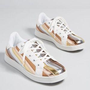NWB ModCloth Energetic Presence Metallic Sneaker
